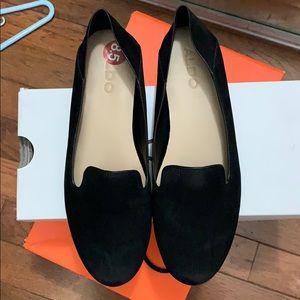 ALDO Suede Black Loafers Size 8.5